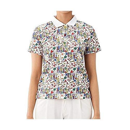 [エム ユースポーツ] 半袖ポロシャツ (総柄) レディース ゴルフウェア 44(LL寸) ホワイト(001) B07R1HFJWL