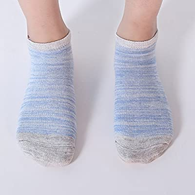 10 Pair Women's Cotton Sneaker Low cut Ankle Socks: Clothing