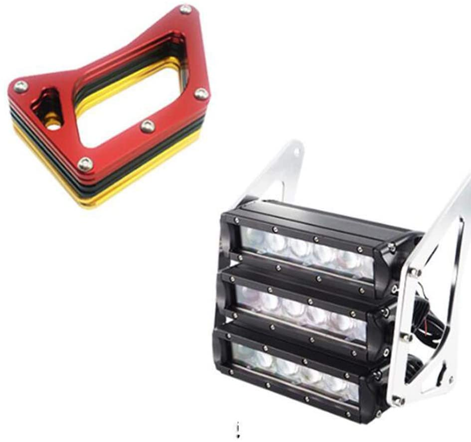 Flameer Motorcycle Three-tier LED Modified Headlights Fairing Headlamp For MSX125 Red