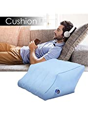 humflour Inflatable Foot Cushion,Inflatable Leg Rest for Flights Versatile Design Portable Knee Pillow Foot Rest Pillow,Lnflatable Travel Leg Pillow,Relieve Fatigue & Pain10x20x16Inch