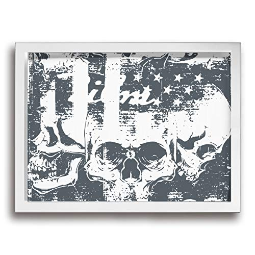 Burning Bracelets Wooden (KK5k Skull 15.7 W X 11.8 L Inch Black Wood Wall Photo Frame)