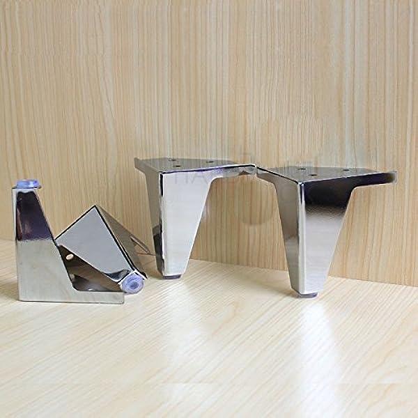 Amazon.com: 4 Pcs Furniture Cabinet Metal Legs Corner Feet Stainless Steel Chrome Polish: Furniture & Decor
