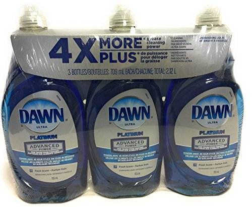 Price comparison product image Dawn Dish Soap,  Ultra Platinum Advanced Power 4X More (24 Fl. OZ x 3)