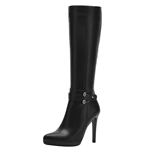 Carolbar Women s Fashion Stiletto Zip Knee High Boots  Amazon.co.uk ... 0d34f10cc