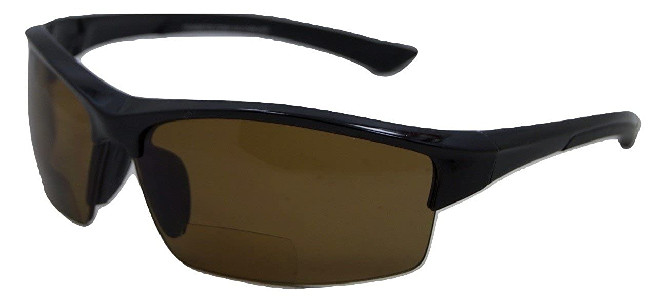 In Style Eyes Magnificent Maui Wrap Polarized Nearly Invisible Line Bifocal Sunglasses