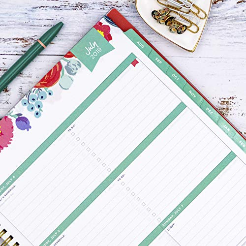 Day Designer for Blue Sky 2019-2020 Academic Year Weekly & Monthly Planner, Flexible Cover, Twin-Wire Binding, 8.5'' x 11'', Floral Sketch by Blue Sky (Image #4)