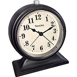 Westclox Classic Quartz Battery Operated Black Alarm Clock