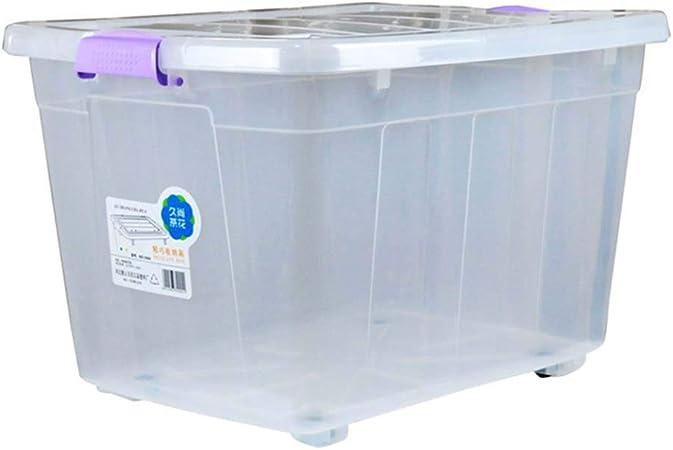 Caja de almacenamiento en seco Estilo europeo Espesar Transparente Caja de almacenamiento de plástico grande Adecuado para hogares Oficinas Ropa de juguete para la escuela Cargue las cajas de almacen: Amazon.es: Hogar