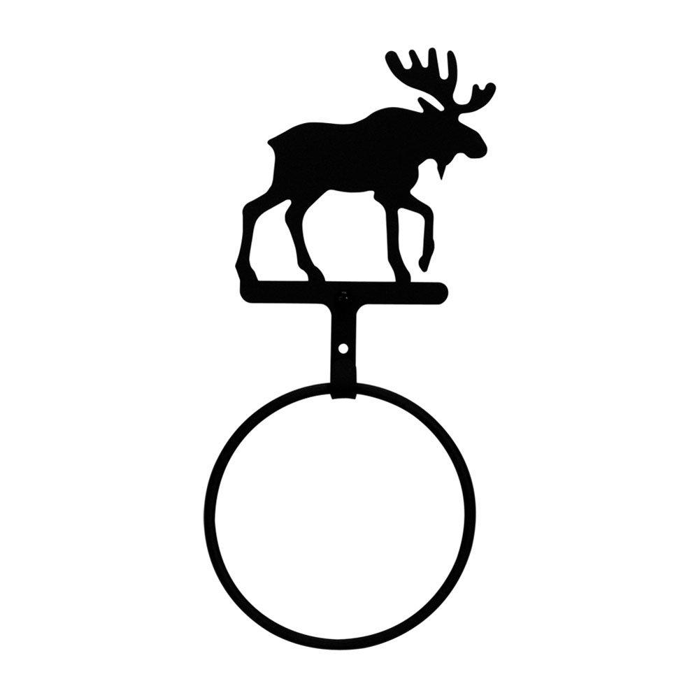 Iron Moose Towel Ring - Heavy Duty Metal Bathroom Hanger, Towel Holder, Indoor Ourdoor Towel Rack