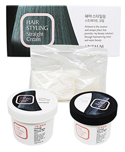 Korea Cosmetic ARITAUM Hair Relaxer(DIY KIT) Straight Cream for curly Hair: (100ml each) Self permanent Straight Cream, Straightening For Frizzy Hair: At Home Amore Pacific
