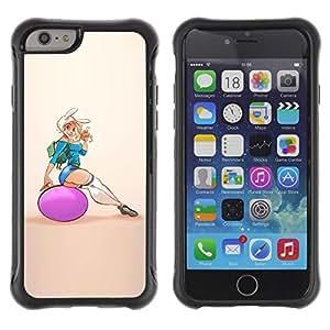 Suave TPU GEL Carcasa Funda Silicona Blando Estuche Caso de protección (para) Apple Iphone 6 / CECELL Phone case / / sexy fitness chick woman girl butt /
