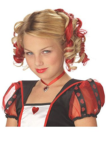Womens Cupid Halloween Costumes (Blonde and Red Curly Clips Wig)