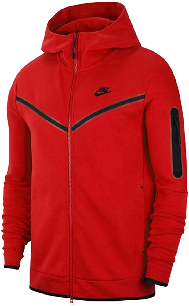 Nike Men S Hoodie Full Zip Tech Fleece Red Cod Cu4489 657 Red S Amazon Co Uk Clothing