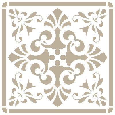 Stencil Mini Deco Sfondo 076 Piastrelle Iberia 10. Stencil dimensioni: 12 x 12 cm disegno Dimensioni: 9, 5 x 9, 5 cm Wega Elite Products