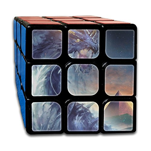 Dragon Painting 3x3x3 Speed Cube ABS Environment-friendly Plastics Smooth Magic Cube Puzzles (Skyrim Board Game)