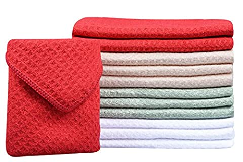 Sinland Microfiber Waffle Weave Dish Cloths Household Kitchen Cleaning Cloth