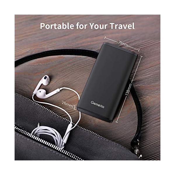 para Smartphones Tabletas 20000mAh Bater/ía Externa Cargador Port/átil de Gran Capacidad con Puertos de Salida Micro USB//Tipo C Gemeita Power Bank