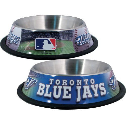 (Hunter Toronto Blue Jays Stainless Steel Bowl for Pets, 32 oz.)