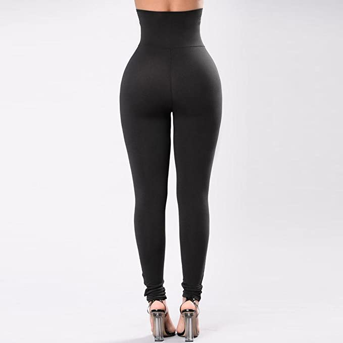 DaoAG-Summer Clothes Women Butt Lift Yoga Pants Solid Color High Waist Legging Tummy Control Slim Fit Fitness Shapewear Pants