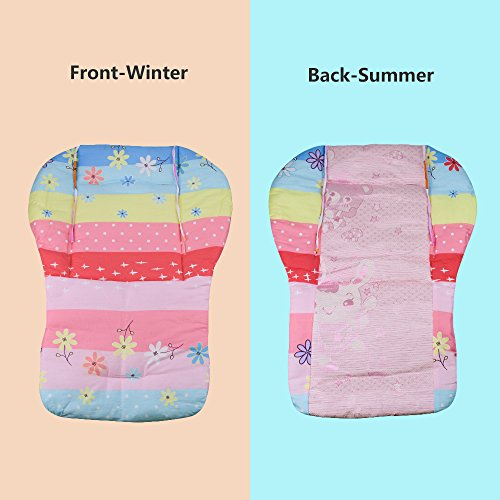 Topwon Baby Stroller/Car Seat/High Chair Wateroof Rainbow Striped Breathable Cushion Seat Liners Cover Protector by Topwon (Image #3)