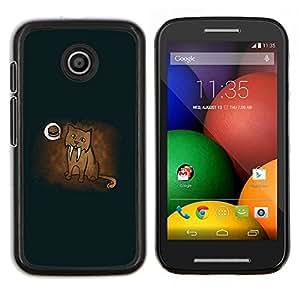 EJOOY---Cubierta de la caja de protección para la piel dura ** Motorola Moto E ** --Divertido del puma sueño