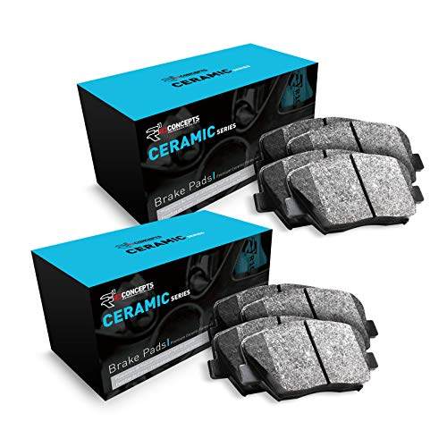 For 2004-2006 Mazda MPV Front and Rear R1 Ceramic Series Brake Pads