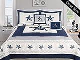 Dallas Cowboys Blue Star Comforter Set - 5 Piece Set (Bonus Pack) (Oversized Queen)