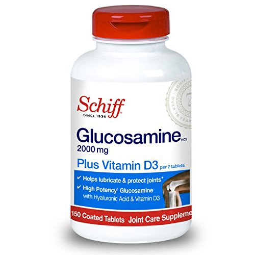 Schiff Glucosamine 2000mg with Vitamin D3 and Hyaluronic Acid, 150 tablets – Joint Supplement