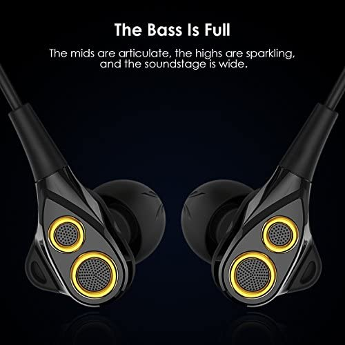 Super Specials in-Ear HiFi Earphones, UiiSii T8S Triple Driver Earbuds Noise Reduction and Deep Bass with Mic Volume Controlfor Smartphones (Black)  VBjXGTy