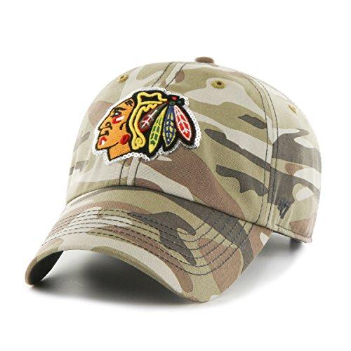 '47 NHL Chicago Blackhawks Women's Sparkle Camo Clean Up Hat, Women's, Faded Camo