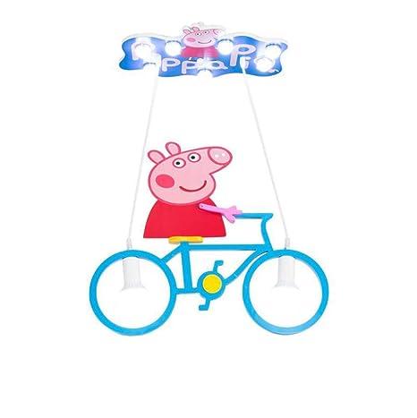 GJX lámpara de Techo de LED, Personalità Creativa Pig Riding ...