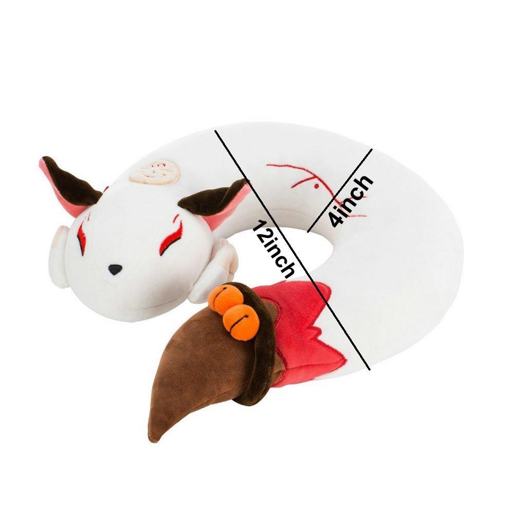 AllLove4U Plush stuffed Toy Cute Spirit Fox U Shape Neck Pillow Travel Pillow Animation gift (Red) by AllLove4U (Image #2)