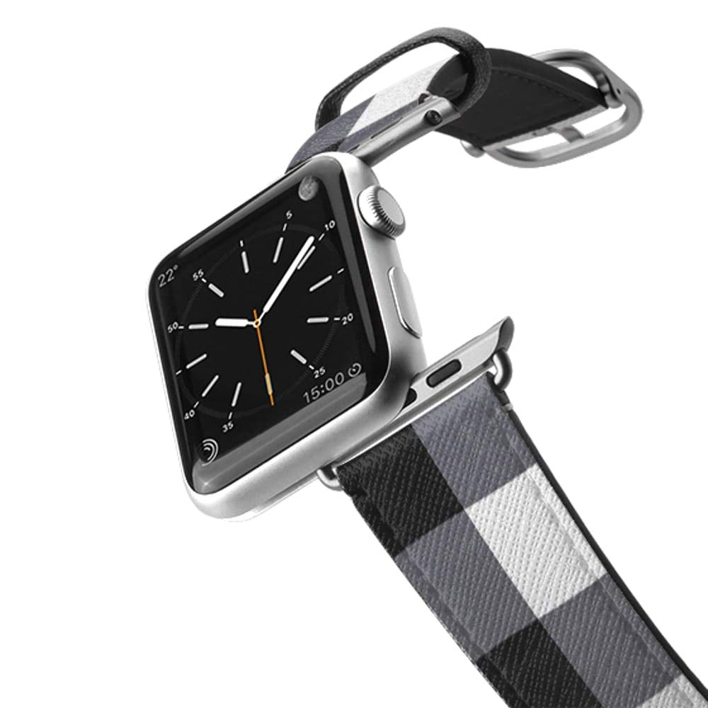 Casetify Bands Compatible for Apple Watch Bands 38mm 42mm with Silver Stainless Steel Buckle Replacement Band for iWatch Apple Watch Series 4 Series 3 Series 2 Series 1 (Gingham Style) by Casetify