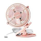 pink desk clip fan - KEYNICE USB Clip Desk Personal Fan, table fans,clip on fan,2 in 1 Applications, Strong Wind, 2 in 1 Applications, Strong Wind, 4 Inch 2 Speed Portable Cooling Fan USB Powered by NetBook, PC - Pink