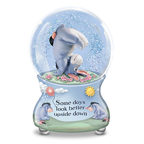 Disney Some Days Look Better Upside Down Eeyore Musical Glitter Globe by The Bradford Exchange (Crystal Eeyore)