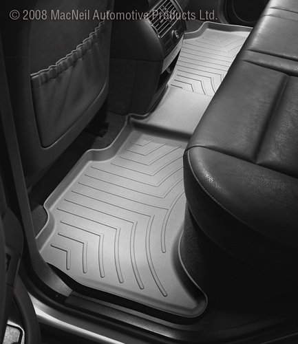 WeatherTech Custom Fit Rear FloorLiner for Dodge Ram 1500 Crew Cab, Grey