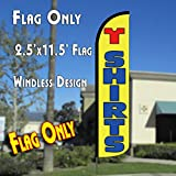 T SHIRTS Windless Polyknit Feather Flag (11 x 2.5 feet)