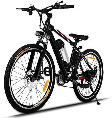 🥇 Ancheer Bicicleta Eléctrica de Montaña E-Bike