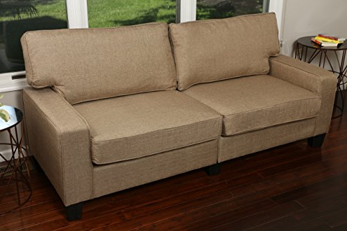 Home Life 2 Person Love Seat Contemporary Pocket Coil Hardwood Sofa 280 61