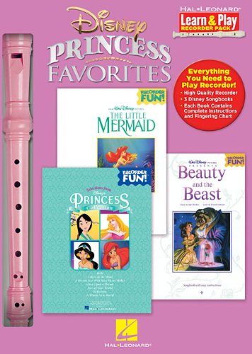 Hal Leonard 102842 Disney Princess Favorites with Little Mermaid/Beauty and The Beast/Princess - Learn And Play Recorder Pack Box (Recorder Collection Princess)