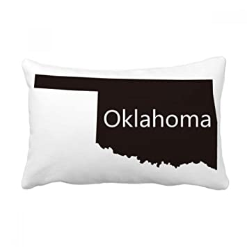 Amazon Com Diythinker Oklahoma America Usa Map Silhouette Throw