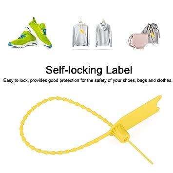 Fditt 100Pcs Práctico desechable Cable Zip Corbatas Antirrobo ...