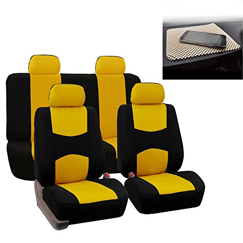 yellow mustang car seat covers - 3