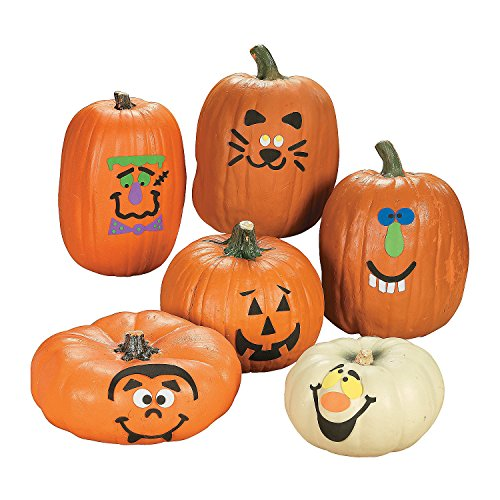Foam Pumpkin Decorations Craft Kit Makes 12 (Halloween Pumpkin Decorating Kits)
