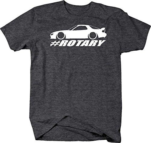 Mazda RX-7 Lowered Custom Rotary Engine Racing Mens T Shirt - Large