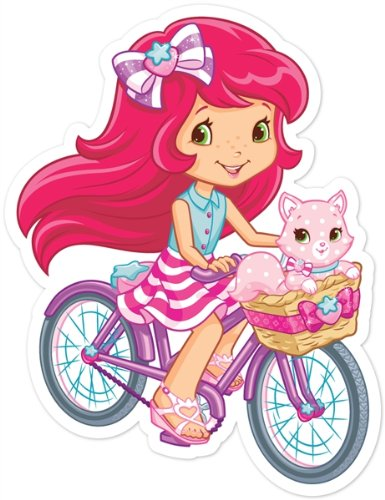 Walls 360 Peel & Stick Wall Decals: Strawberry Shortcake & Cupcake On (Strawberry Shortcake Wall Stickers)