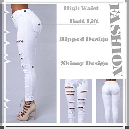 Jeans Jeans Qingorange Femme Blanc Qingorange 8nP8qxWcB