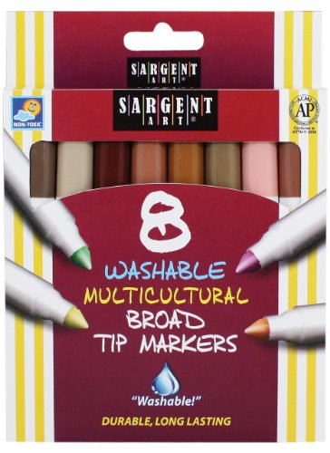 8-Count Color of My Friends Washable Broad Conical Tip Markers ()