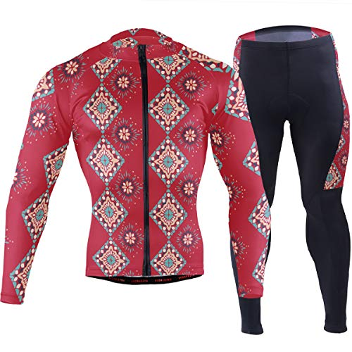 Folklore Aztec Indian Gypsy Men's Cycling Jersey Set Breathable Quick-Dry MTB Road Bike Luxury
