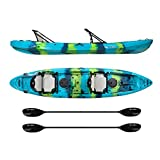 Vibe Kayaks Yellowfin 130T | 13ft Tandem 2 Person Sit On Top Kayak w/2 paddles & Hero Seats For Sale